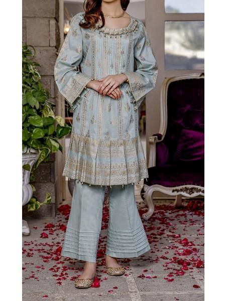 AMNA KHADIJA Nornag Unstitched Banarsi Jacquard 2 Pcs Collection D-04