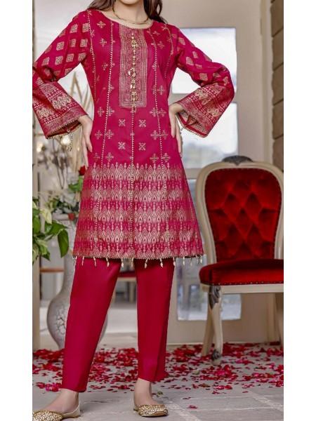 AMNA KHADIJA Nornag Unstitched Banarsi Jacquard 2 Pcs Collection D-06