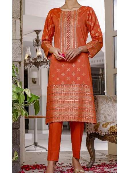AMNA KHADIJA Nornag Unstitched Banarsi Jacquard 2 Pcs Collection D-07