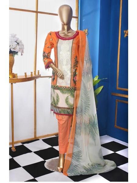 AMNA KHADIJA Signature Classic Emb Lawn Collection D-02