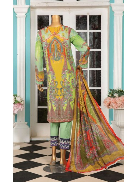 Aqsa Unstitched Swiss Printed and Embroidered Collection D-DE 07