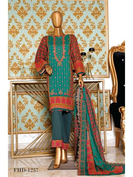 BIN SAEED Embroidered Collection'21 Vol-04 D-FHD 1257