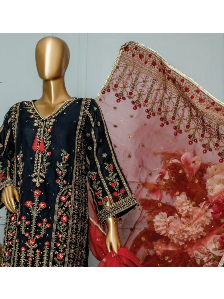 Bin Saeed Embroidered Organza Collection D-AM 001