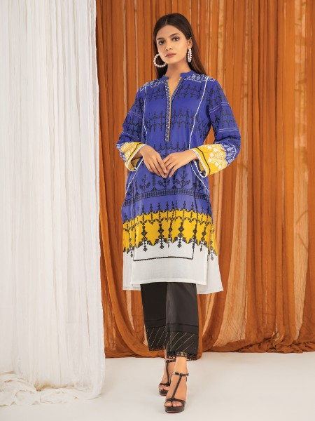 Edenrobe Summer Unstitched Collection EWU21A1-20566 - Royal Blue - 1 Piece