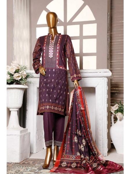 HZ Textile Premium Embroidered Tassel silk Dupatta Collection D-PE-17 - BURGENDY