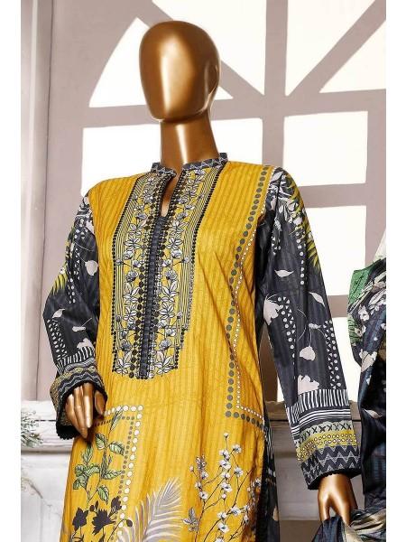 HZ Textile Premium Embroidered Tassel silk Dupatta Collection D- PE-18 - MUSTARD