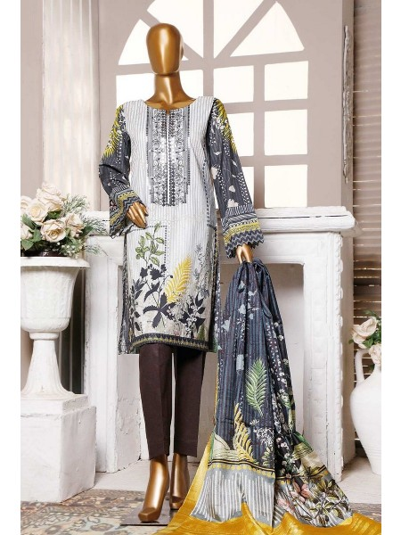 HZ Textile Premium Embroidered Tassel silk Dupatta Collection D- PE-19 - SILVER GRAY