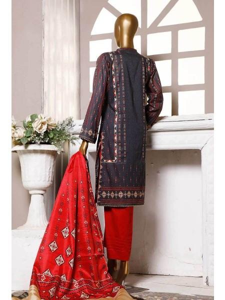 HZ Textile Premium Embroidered Tassel silk Dupatta Collection D- PE-20 - GREASE BLACK