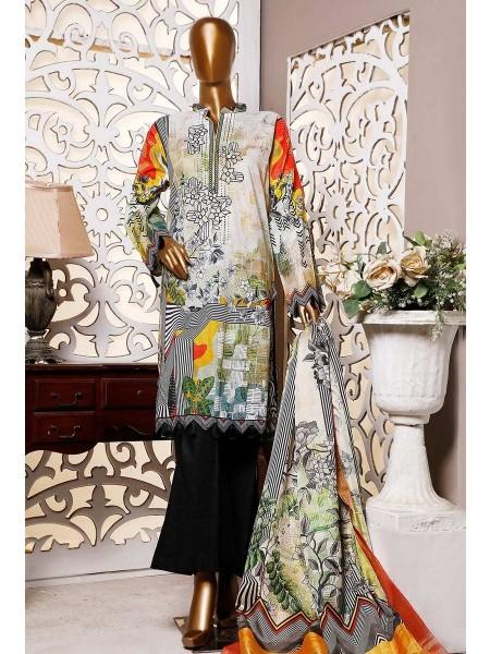 HZ Textile Premium Embroidered Tassel silk Dupatta Collection D-PE-23 - OFF WHITE