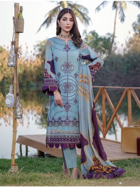 Khas Palwasha 3 Piece Unstitched Embroidered Lawn Suit with Chiffon Dupatta KC-1047