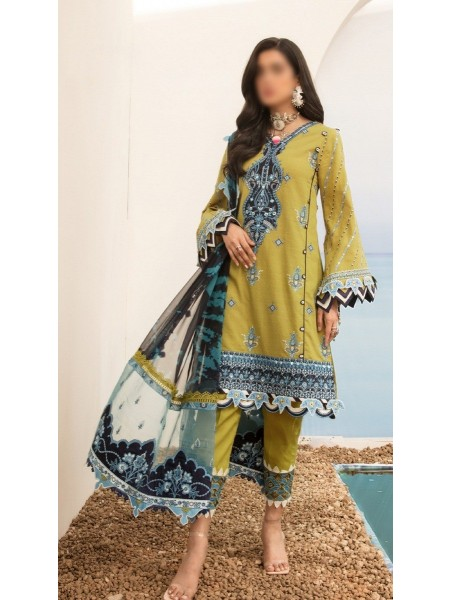 NOOR By Saadia Assad Luxury Lawn Collection 2021 D-D 07 A