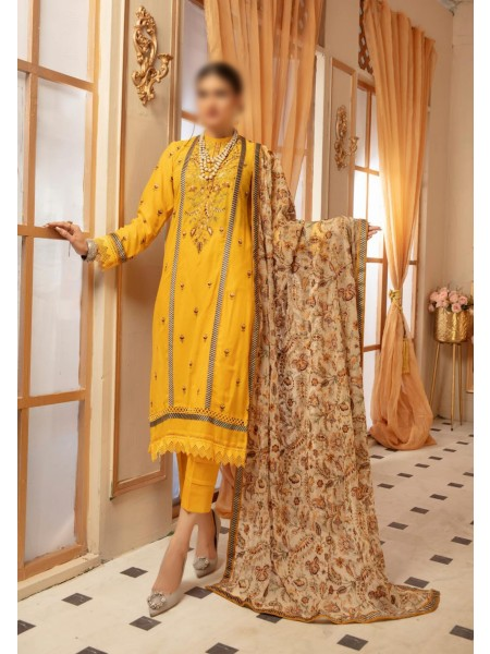 NUR Noor E Chasham Unstitched Swiss Embroidered Collection D-NC 452