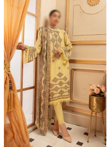 NUR Noor E Chasham Unstitched Swiss Embroidered Collection D-NC 455