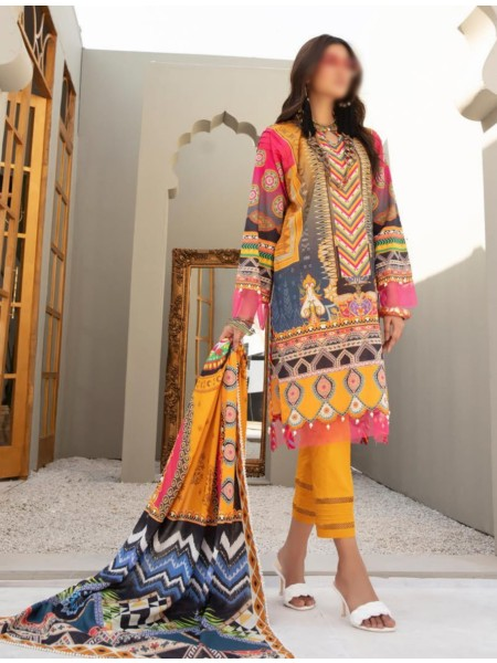 NUR Rang Nagar Unstitched Printed Lawn Collection DRN 408