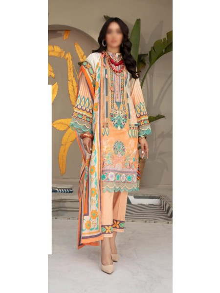 NUR Rang Nagar Unstitched Printed Lawn Collection DRN 409