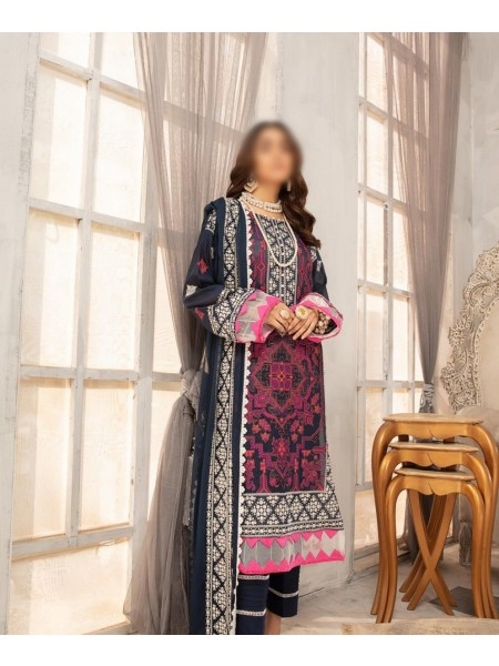 RIAZ ARTS Naqsh Unstitched Swiss Embroidered Signature Collection D-01