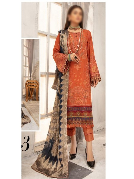 RIAZ ARTS Naqsh Unstitched Swiss Embroidered Signature Collection D-03