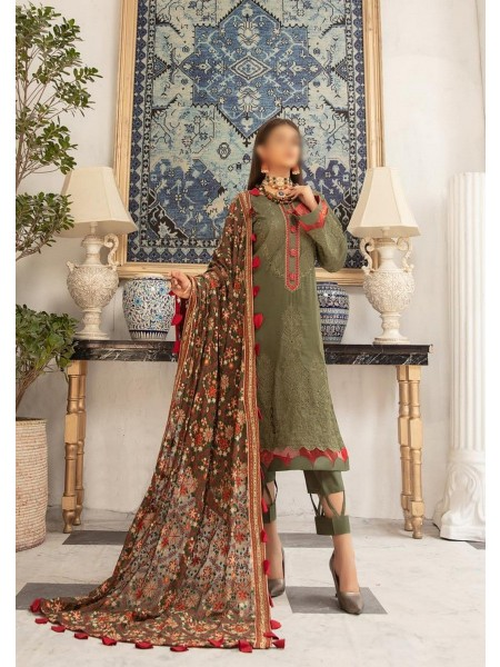 RIAZ ARTS Naqsh Unstitched Swiss Embroidered Signature Collection D-06
