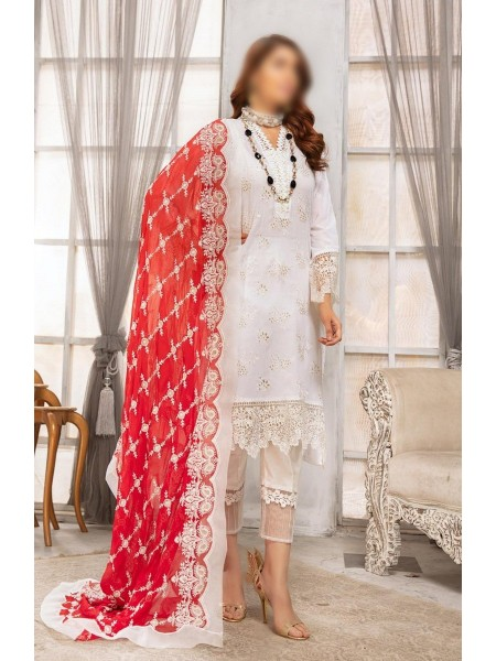 RIAZ ARTS Naqsh Unstitched Swiss Embroidered Signature Collection D-08