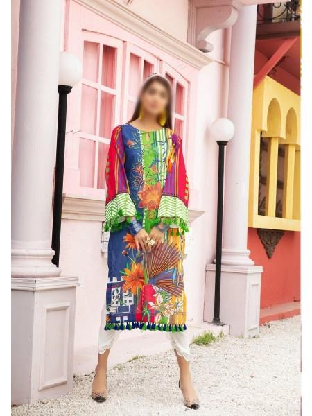 RIAZ ATRS Plush Premium Embroidered Lawn Kurti Collection D-03