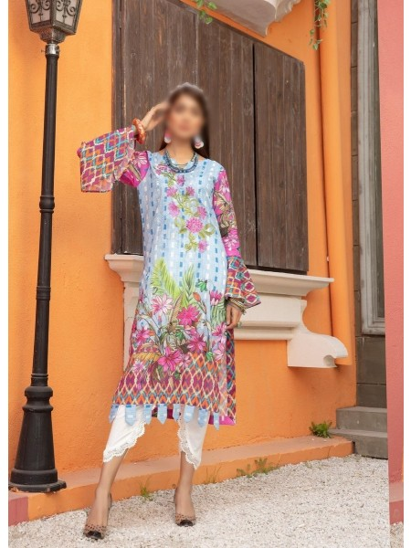 RIAZ ATRS Plush Premium Embroidered Lawn Kurti Collection D-07