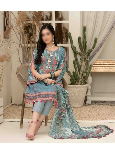 Tawakkal Elegance Personified Slub Digital Embroidered Lawn Collection D1112