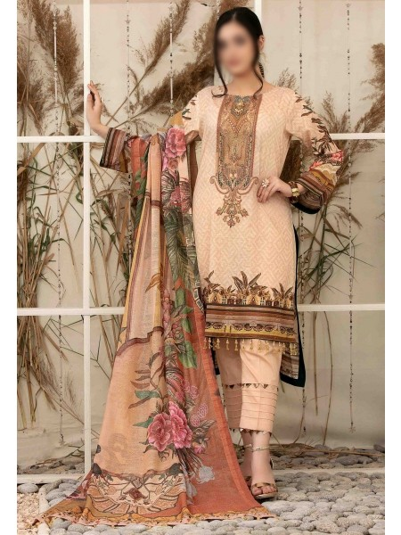 Tawakkal Elegance Personified Slub Digital Embroidered Lawn Collection D1114