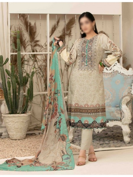 Tawakkal Elegance Personified Slub Digital Embroidered Lawn Collection D1115