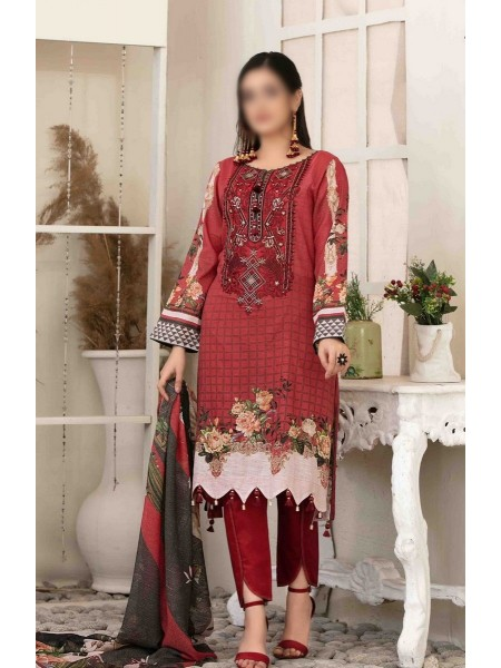Tawakkal Elegance Personified Slub Digital Embroidered Lawn Collection D1117