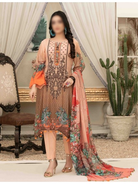 Tawakkal Elegance Personified Slub Digital Embroidered Lawn Collection D1120