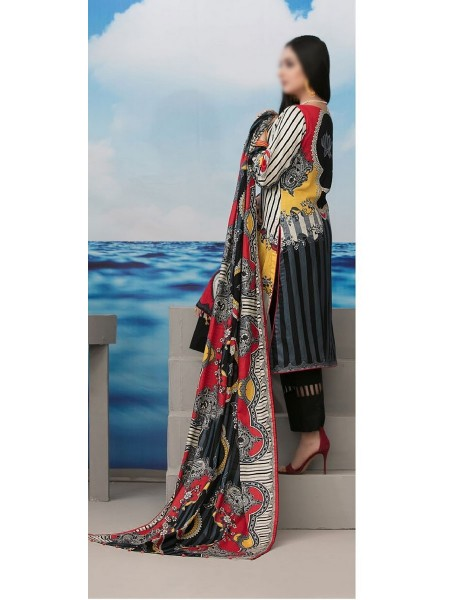 Tawakkal Realm Of Style Unstitched Lawn Print and Embroidery Collection D-1261 A