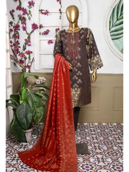 Bin Saeed Festive Embroidered Broshia Jacquard Banarsi Collection21 D-03