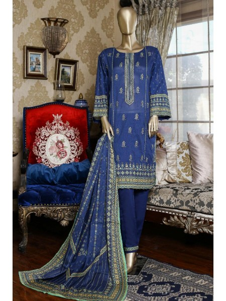 Bin Saeed Festive Stitched Embroidered Collection Vol-09 D-1375