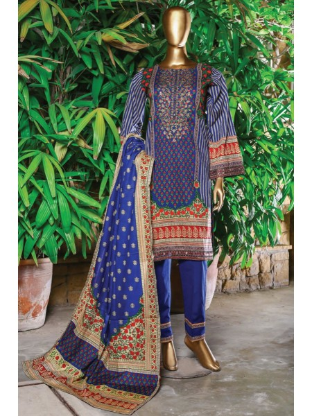 Bin Saeed Festive Stitched Embroidered Collection Vol-09 D-FR 508 B