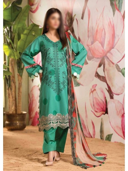 Charizma Sheen Embroidered Lawn Print Collection Vol 1 2021 D-SH 02