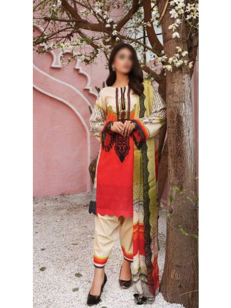 Charizma Sheen Embroidered Lawn Print Collection Vol 1 2021 D-SH 03