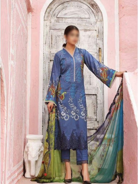 Charizma Sheen Embroidered Lawn Print Collection Vol 1 2021 D-SH 05
