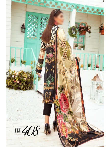 HUSN-E-JAHAN by NUR Lawn Embroidered Printed Series D-HJ 408