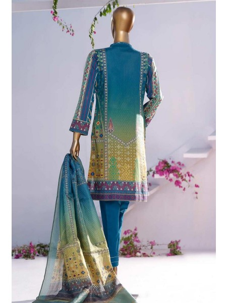 HZ TEXTILE TURKISH ANMOL JACQUARD EMBROIDERED COLLECTION D-TF-04 Sapphire Blue