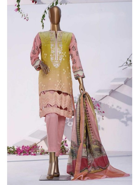 HZ TEXTILE TURKISH ANMOL JACQUARD EMBROIDERED COLLECTION D-TF-05 Peach