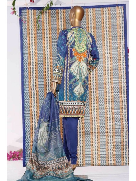 HZ TEXTILE TURKISH ANMOL JACQUARD EMBROIDERED COLLECTION D-TF-06 Blue