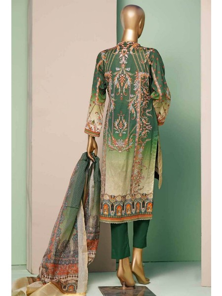 HZ TEXTILE TURKISH ANMOL JACQUARD EMBROIDERED COLLECTION D-TF-08 Green