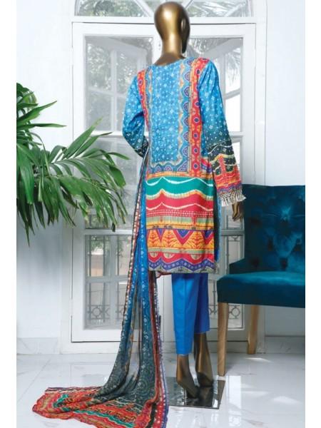 HZ Textile Turkish Chundri Jacquard Unstitched Print S01 TC-1090-B