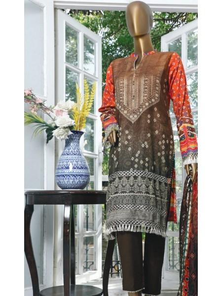 HZ Textile Turkish Chundri Jacquard Unstitched Print S01 TC-1090-C