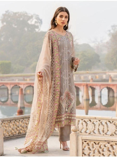 Khas Charbagh 3 Piece Unstitched Embroidered Chiffon Suit KNAC-1116