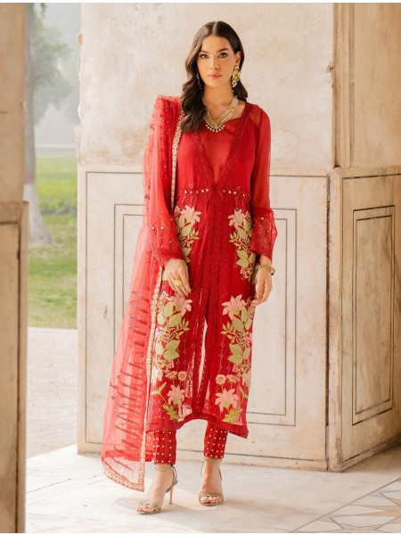 Khas Charbagh 3 Piece Unstitched Embroidered Chiffon Suit KNAC-1117
