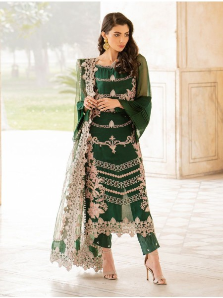 Khas Charbagh 3 Piece Unstitched Embroidered Chiffon Suit KNAC-1118