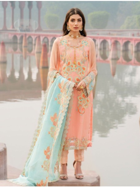 Khas Charbagh 3 Piece Unstitched Embroidered Chiffon Suit KNAC-1119