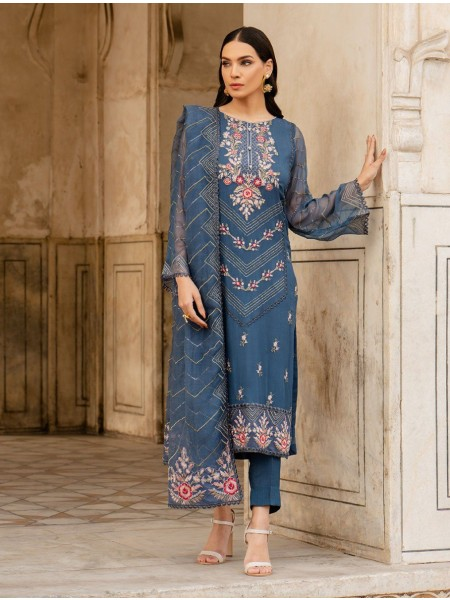 Khas Charbagh 3 Piece Unstitched Embroidered Chiffon Suit KNAC-1122