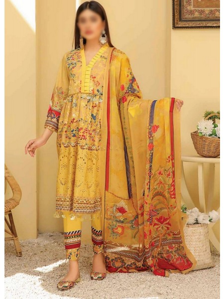 RIAZ ARTS Chikankari Lawn Embroidered Collection D-01